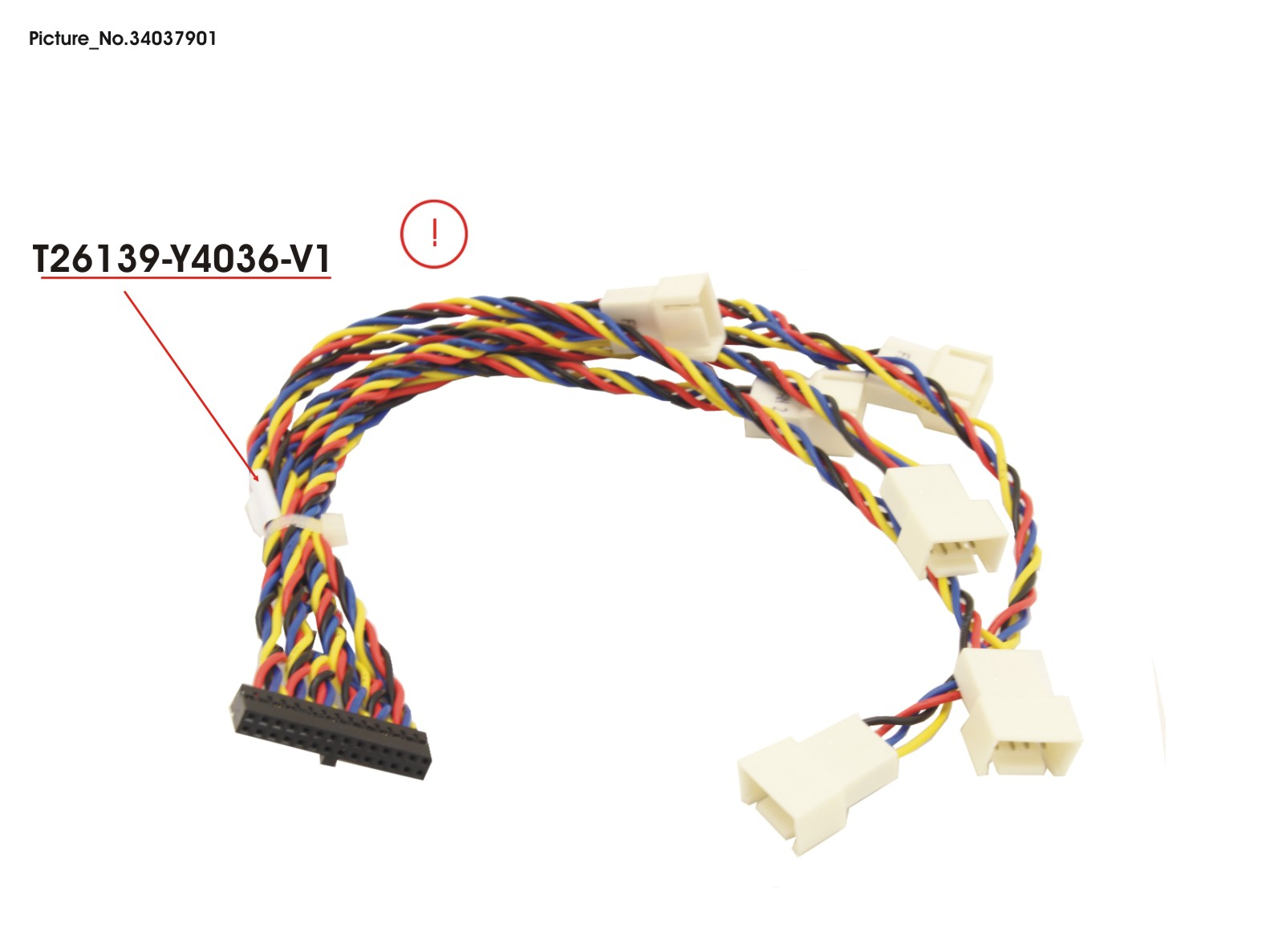 CABLE FAN C620 34037901 T26139-Y4036-V1