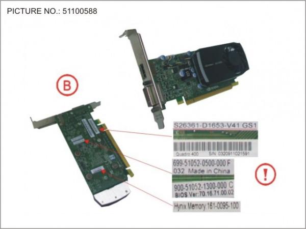 VGA NVIDIA QUADRO 400 512GB PCI-E X16