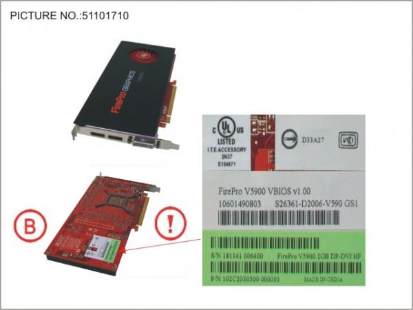 VGA AMD FIREPRO V5900 2GB PCI-E X16
