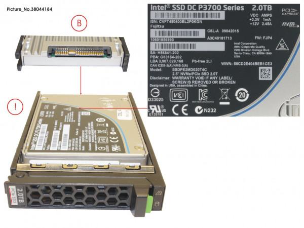 "SSD PCIE3 2TB MAIN 2.5"" H-P EP"