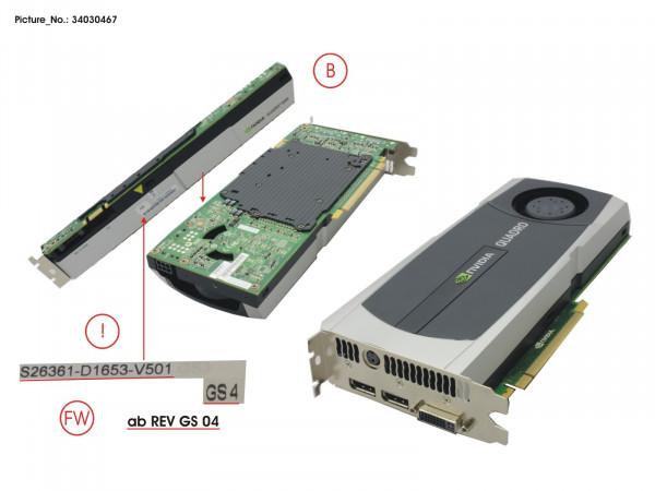 VGA NVIDIA QUADRO 5000 2.5GB ST. PCI-E