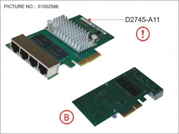 ETH CTRL 4X1GBIT PCIE X4 D2745 CU