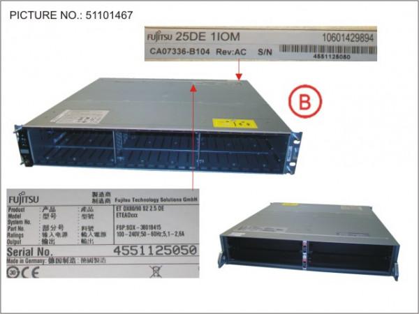 DX S2 DRIVE ENCL. 2.5 woPSU/CM