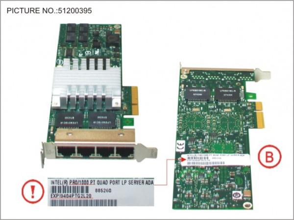 ETH CTRL 4X1GBIT PCIE PRO/1000PT