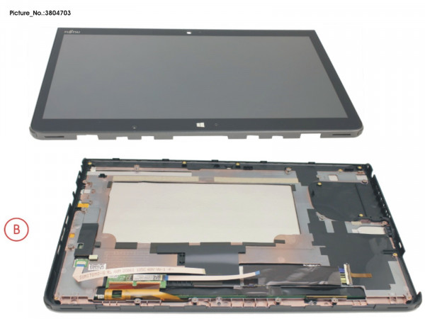 LCD ASSY, AG INCL. TP AND DIGITIZER