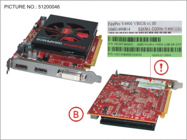 VGA AMD FIREPRO V4900 1GB PCI-E X16