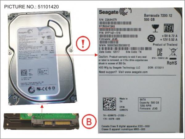 """HDD 500GB SATA S3 7.2K 3.5"""""""