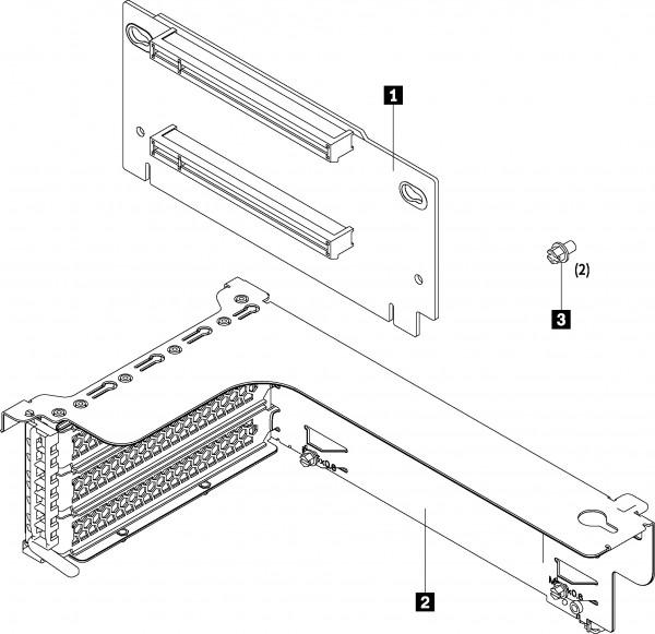 PCIe FH x16/x8 Riser 1 Kit