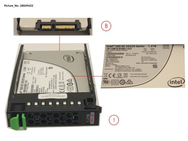 "SSD SATA 6G 1.2TB READ-INT. 2.5"" H-P EP"