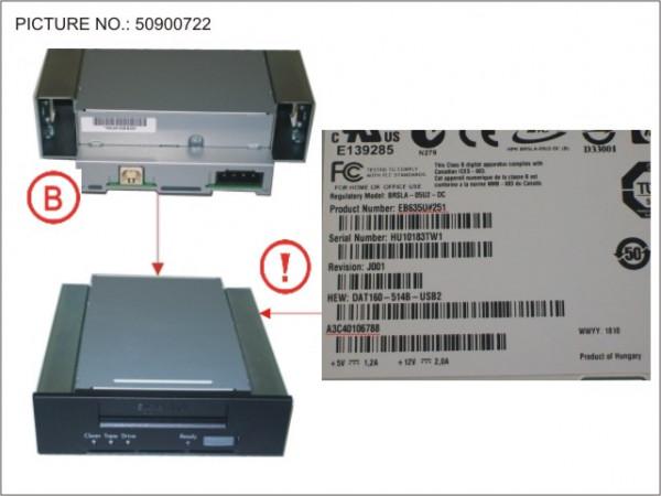 TAPE KIT DDS GEN6 80GB USB 5.25' INT.
