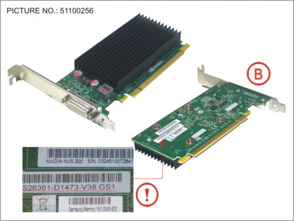 VGA NVIDIA QUADRO NVS300 512MB PCI-E X16
