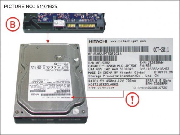 HDD 320GB SATA S3 7.2K 3.5'