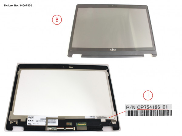 LCD ASSY HD, AG INCL.TOUCHPANEL