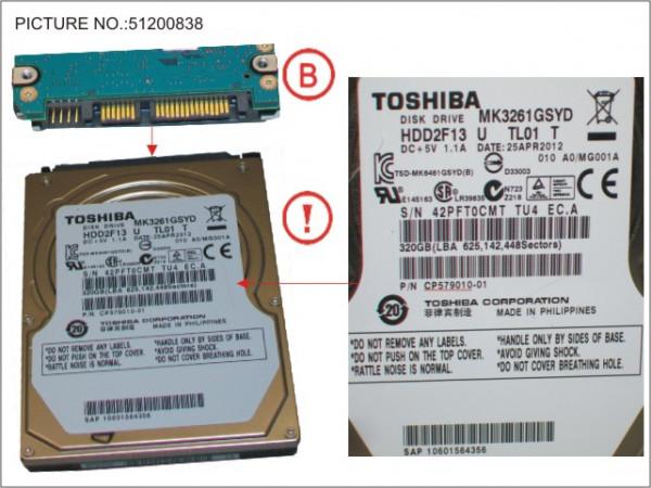 HDD 320GB SATA2-5 7,2K (FDE)