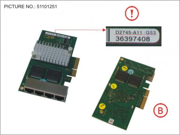 4X1 GB QUADLAN-CARD
