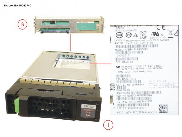 DX S3 SED SSD SAS 1.6TB 12G 3.5