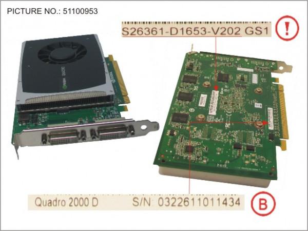 VGA NVIDIA QUADRO 2000D 1GB PCI-E X16