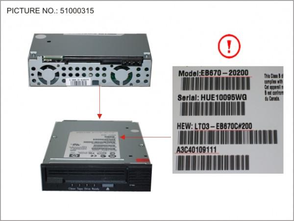 TAPE KIT LTO3HH ULTR 400GB 60MB/S SAS