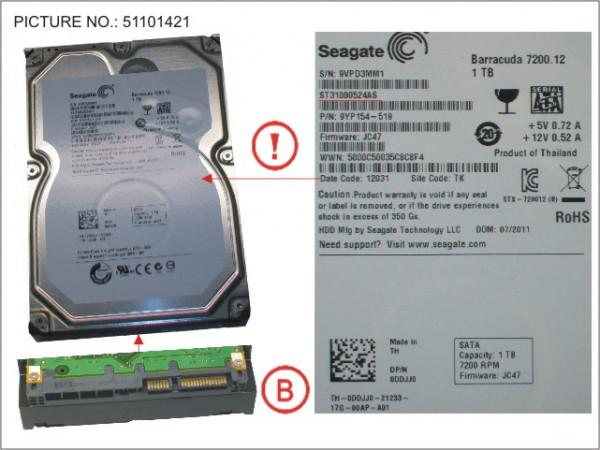 HDD 1TB SATA S3 7.2K 3.5'
