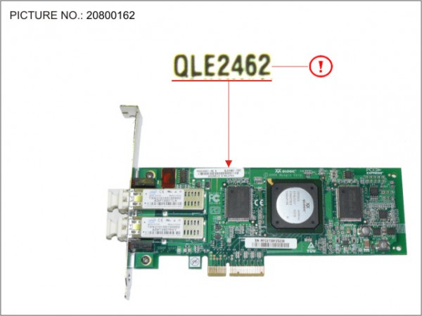 FC Ctrl 2Chan. 4GBit/s QLE2462 MMF LC FH