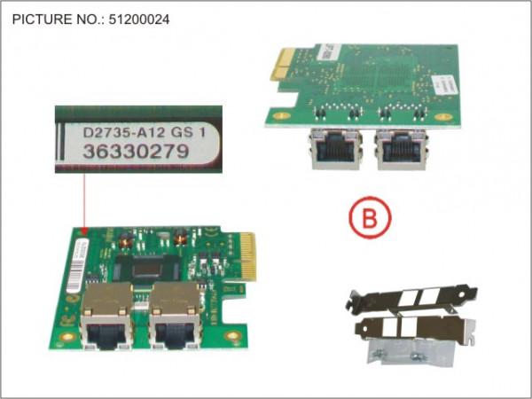 DUAL 1 GBIT ETHERNET PCIE X4