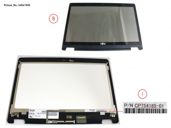 LCD ASSY HD, G INCL.TOUCHPANEL