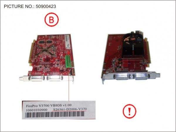 VGA ATI FIREPRO V3700 256MB PCI-E X16