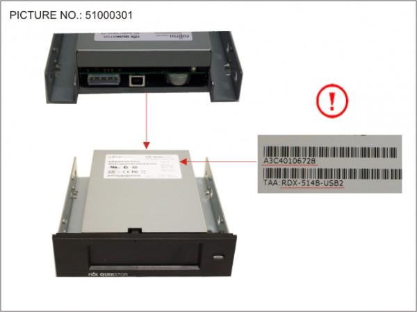 RDX DRIVE USB 25MB/S 5.25' INTERNAL