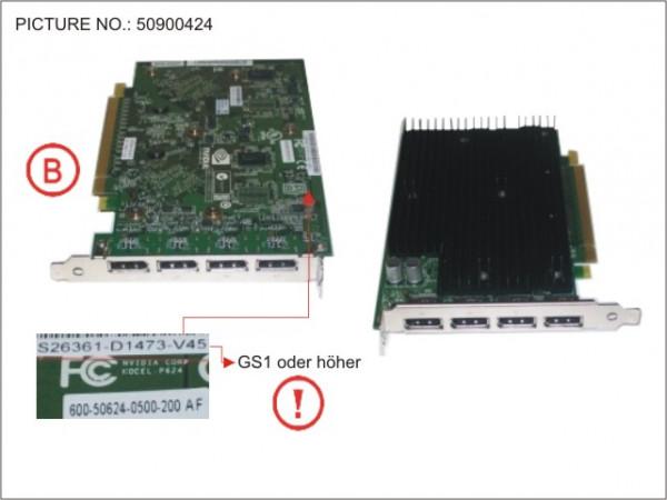 VGA NVIDIA QUADRO NVS450 2X256MB 4XDP