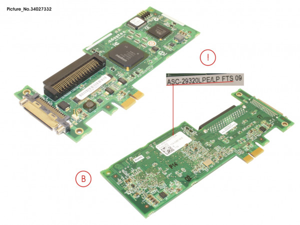 PCI/U320 SCSI FTS without Braket