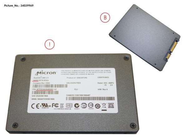 SSD S3 64GB 2.5 SATA (7MM) (WIN8)