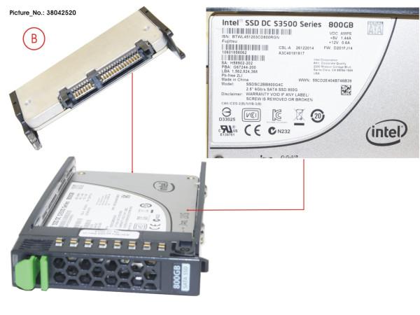 "SSD SATA 6G 800GB READ-INTEN 2.5"" H-P EP"
