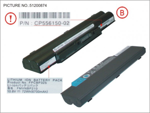 BT-1ST BATTERY (6 CELLS) 6700MAH