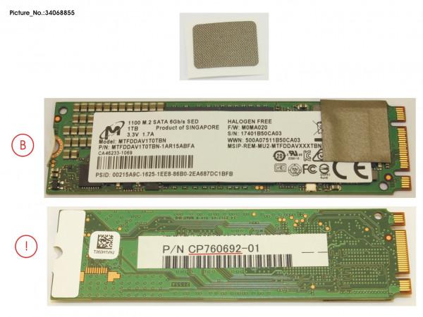 SSD M.2 2280 1TB (OPAL) W/RUBBER